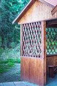 Wooden pergola — Stockfoto