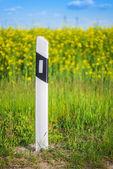 Concrete pole near road — Stock Photo