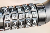 Combination lock for bicycle — Stock Photo