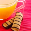 Orange juice and cookies — Stock Photo #51407647