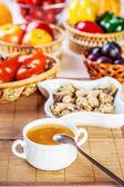 Abundance food meat , vegetables, fruits — Foto de Stock