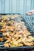 Fresh hot skewers — Foto Stock