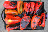 Red Peppers on the Grill — Stock Photo