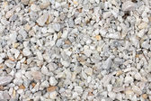 Crushed white stone — Stockfoto