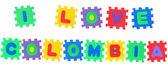 I Love Colombia — Stock Photo