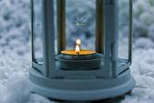 Svíčky v svícen — Stock fotografie