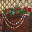 Christmas decoration of the house — Stock Photo