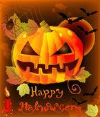 Ilustração de halloween com abóbora — Vetorial Stock