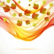 Abstract autumn background with wave — Stock Vector