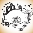 Halloween background — Vector de stock #12621892