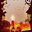 Halloween card with place for text — Imagen vectorial