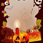 carta di Halloween con posto per testo — Vettoriale Stock