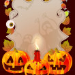图库矢量图片: Halloween card with place for text