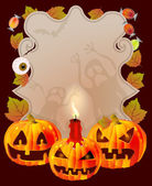 Halloween card with place for text — Stock Vector