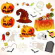 Set of halloween design elements — Stock Vector