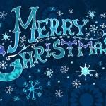 Christmas Card, Merry Christmas lettering — Stock Vector #12779373