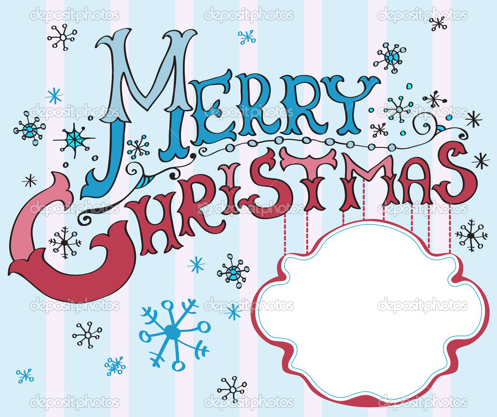 Christmas Card, Merry Christmas lettering, illustration for your design  Stock Vector #12779371