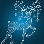 Christmas deer — Stock Vector #12799523