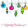 Royalty-Free Stock Vector Image: Christmas Card with cute color decorations