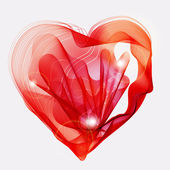 Beautiful Valentine's background with abstract red heart — Wektor stockowy