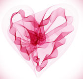 Beautiful Valentine's background with abstract pink heart — ストックベクタ
