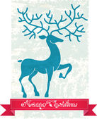 Christmas deer — Stock Vector