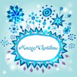 Christmas hand drawn doodle background with place for text — Stock Vector