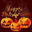 Halloween card with place for text — Vector de stock #13491688