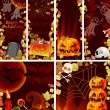 图库矢量图片: Collection of Halloween banners with place for text
