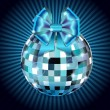 Disco ball with bow — Stock vektor