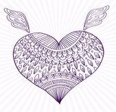 Süsleme hat kalp şekli tasarımınız için — Stok Vektör