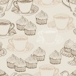 Vintage tea background. seamless pattern — Stock Vector #13613201