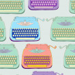 Retro typewriter seamless background — Stock Vector #13647208