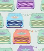 Retro typewriter seamless background — Stock Vector