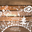 Christmas hand drawn background — Stock Vector #13864353
