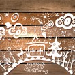 Christmas hand drawn background — Stock Vector