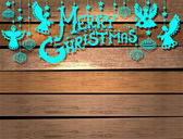 Merry Christmas card with Angels and toys — Vector de stock