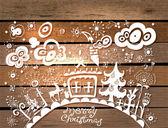 圣诞节手绘背景 — 图库矢量图片