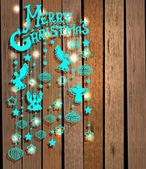 Feliz Natal cartão com anjos — Vetor de Stock