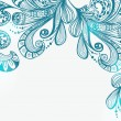 Romantic blue floral background — 图库矢量图片