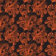 Seamless abstract floral background — Imagen vectorial