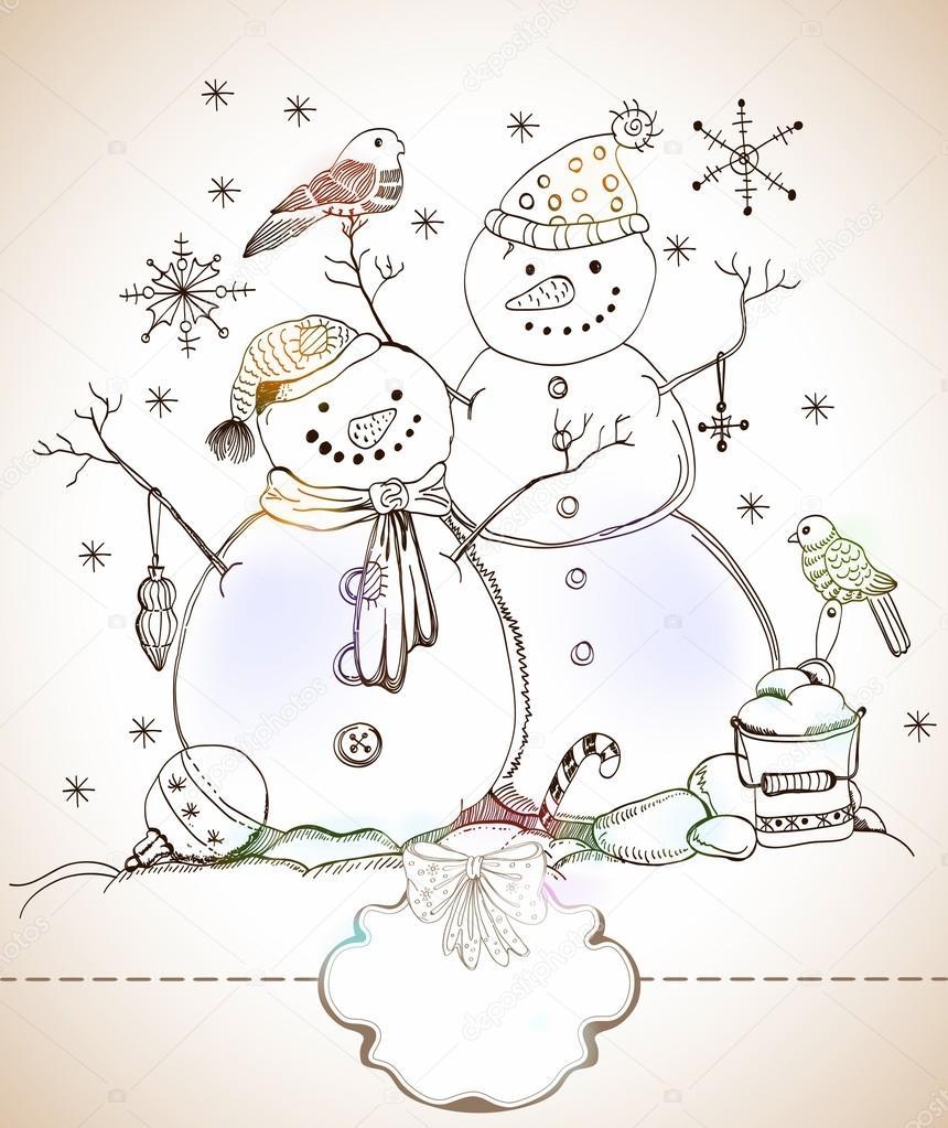 Рисунки на новый год и рождество своими руками