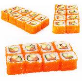 Sushi roll con tonno, avocado e cetriolo — Foto Stock