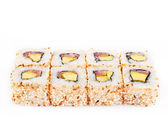 Sushi roll with tune and avocado — Stock Photo