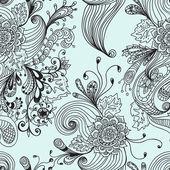 シームレスな抽象的な花の背景 — ストックベクタ