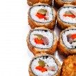 Hot fan sushi roll with tune — Stock Photo