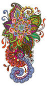 Fondo floral de color dibujado a mano — Vector de stock
