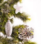 New year card with fur-tree — Stock Photo