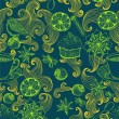 Royalty-Free Stock Vektorfiler: Seamless doodle background with mulled warm wine