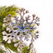 New year card with beautiful snowflake — Stock Photo